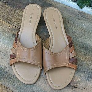 MONTEGO BAY CLUB Leather Sandals Slides Flats